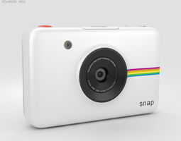 3D electronics Polaroid Snap Instant Digital Camera White