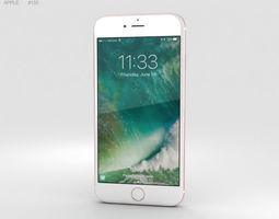 phone 3D model Apple iPhone 7 Rose Gold
