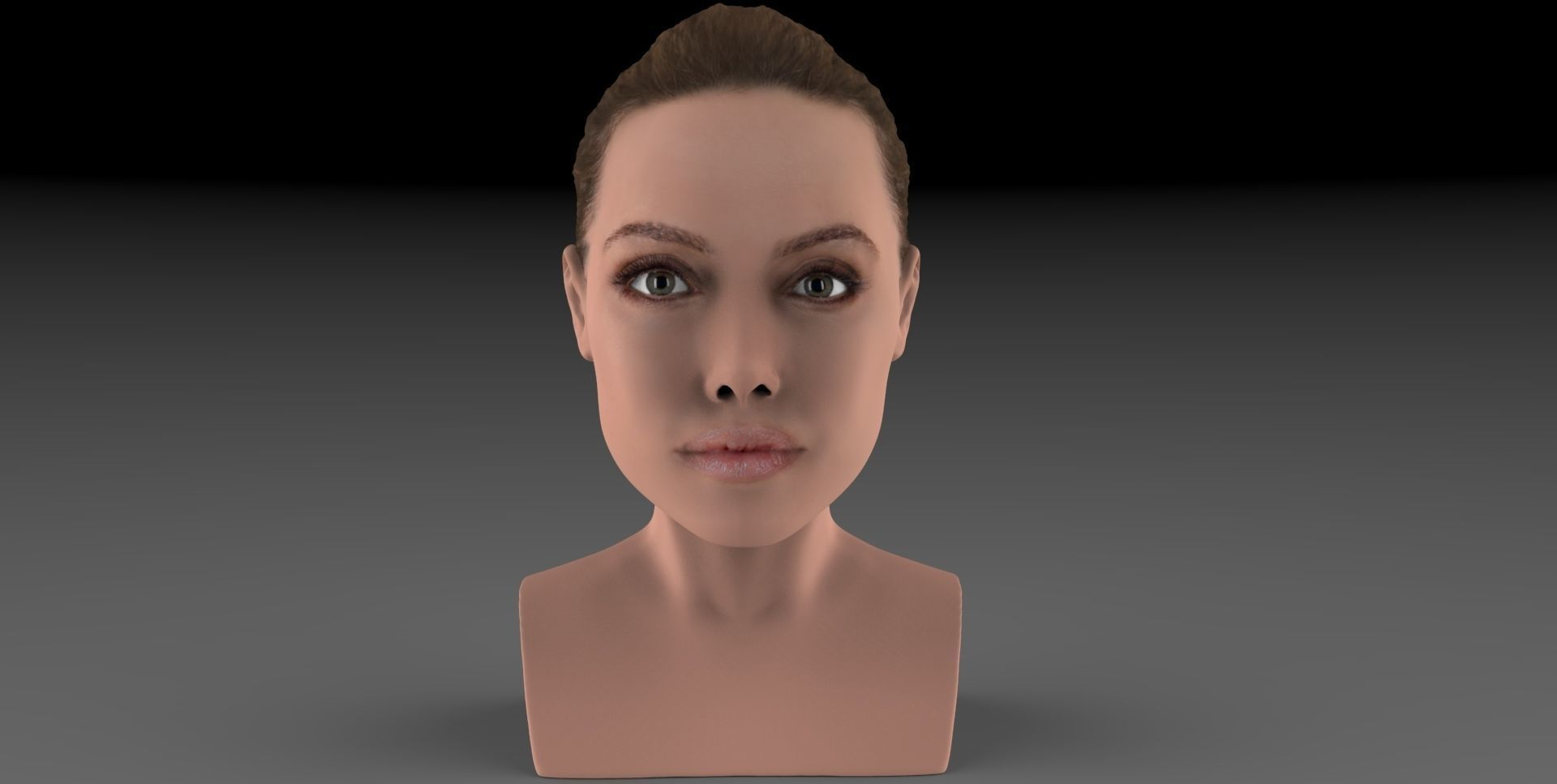 Angelina Jolie bust ready for full color 3D printing