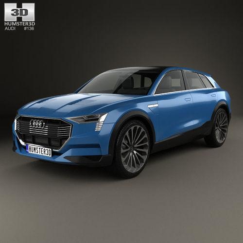 3D Model Audi E-tron Quattro 2015