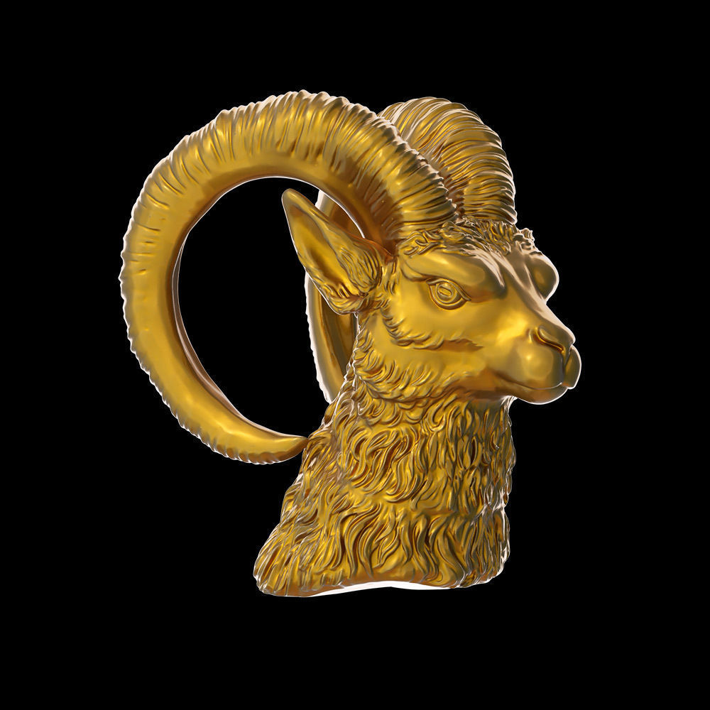Goat Head Model 3D