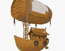 space Cartoon Airship 3D model