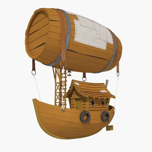 Cartoon Airship