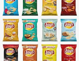 Lays Chips Low Poly 3D model