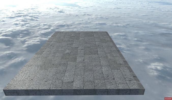 sidewalk 3d model fbx 1