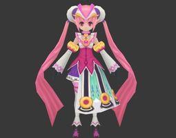 3D asset Lovely girl