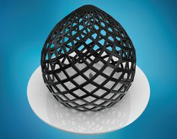 Dome pointed hexagonal grid structure large 3D model