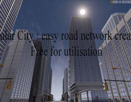 3D asset road network creator