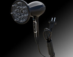 3D model Hairdryer