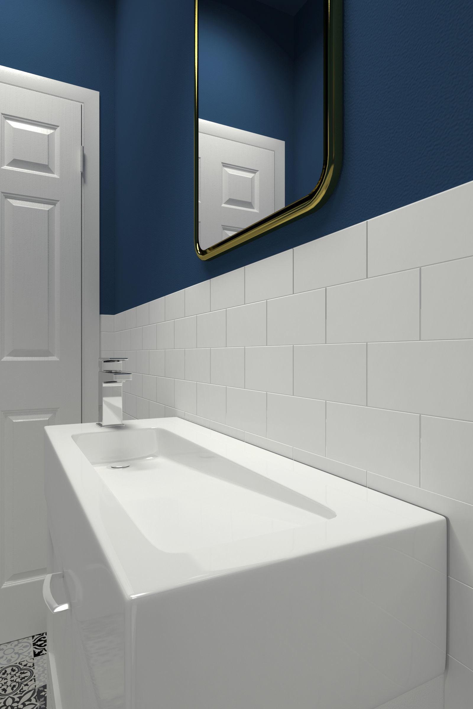 Bathroom-003 Powder Room 3D model | CGTrader