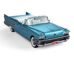 3D model wagon Buick Roadmaster Convertible 1958