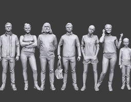 Lowpoly People Casual Pack Volume 15 3D asset low-poly
