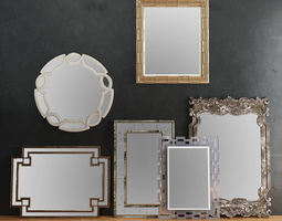 HORCHOW Mirrors Set 02 3D