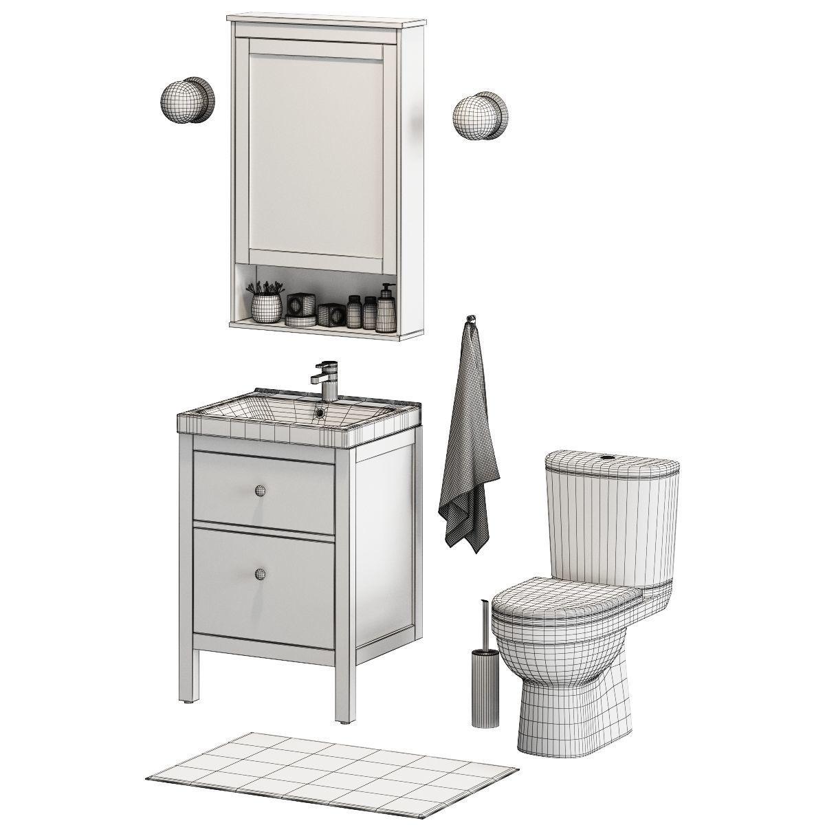 ... Ikea Bathroom Set 3d Model Max Obj Fbx Unitypackage 5