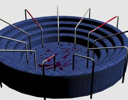 3D model Swimming Pool -Blood Stained- 2