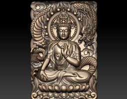 guanyin and dragon 3D
