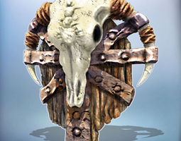 3d printable model fantasy shield orc shield