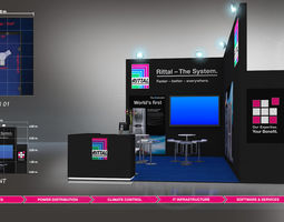 3D model Booth Rittal design size 6X5m Area 30sqm