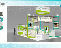 Booth Ashland design size 9X6m 54sqm 3D asset