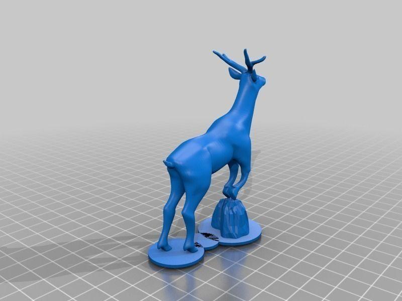 Deer Free 3d Model 3d Printable Stl