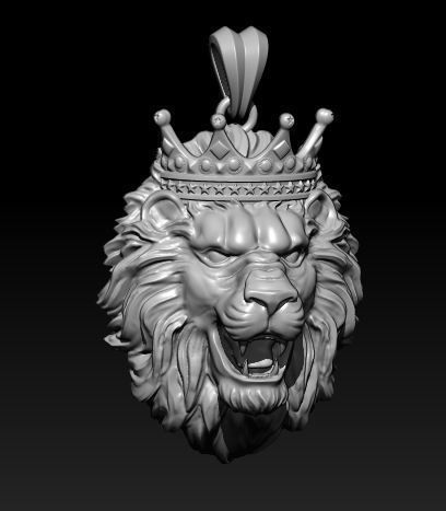 lion necklace with crown