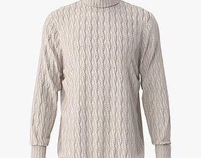 3D model vray woven sweater