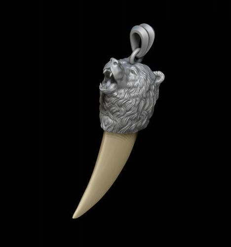 Bear tooth nail pendant 3d print model stone cgtrader bear tooth nail pendant 3d model stl 3dm 1 mozeypictures Image collections