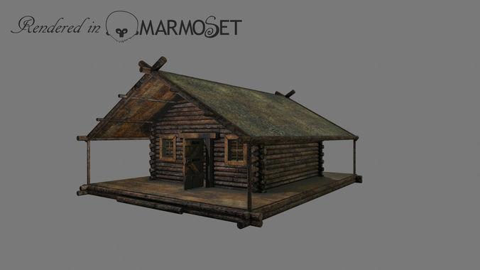 Wooden house model