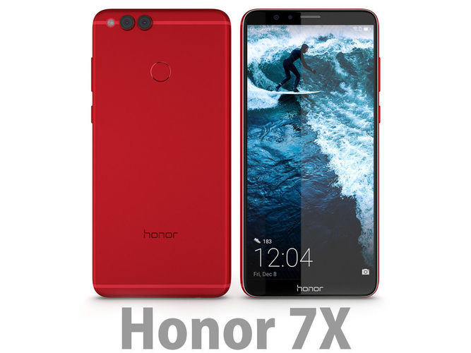 3d Huawei Honor 7x Red Cgtrader