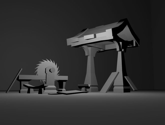 Lumber Mill  Low-poly