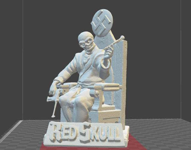 red skull marvel comics miniature model 3d model stl 1