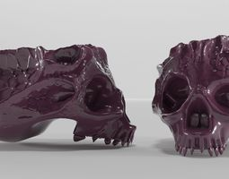 3D model Bone skull ashtray