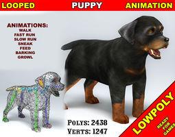 Puppy Rottweiler 3D model