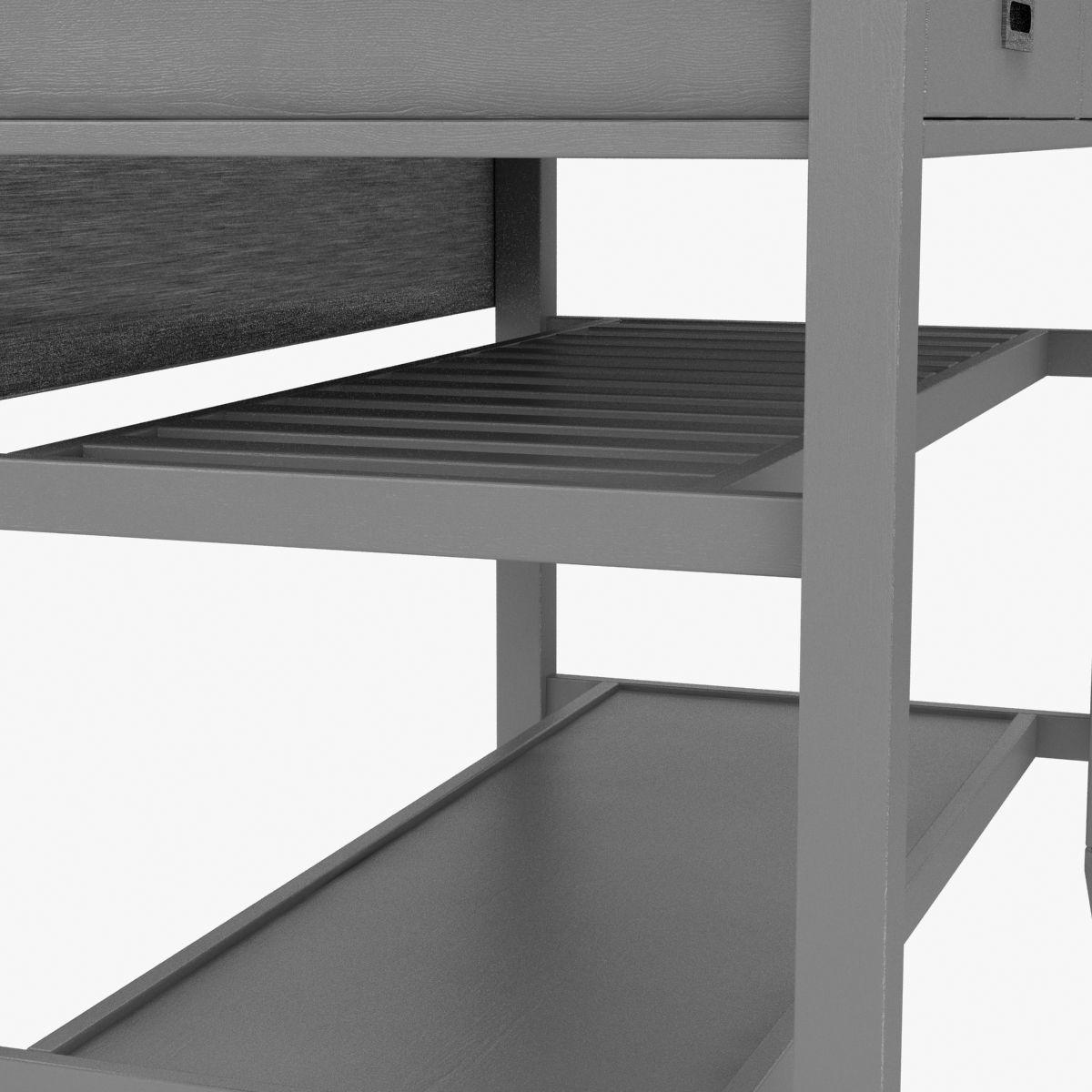 Crate abd barrel sheridan grey kitchen island 3d model max obj mtl 3ds fbx stl unitypackage