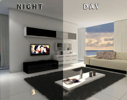 living room 12 Day night 3D model