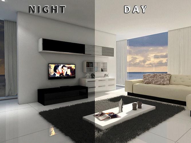 Living Room 12 Day Night 3D Model