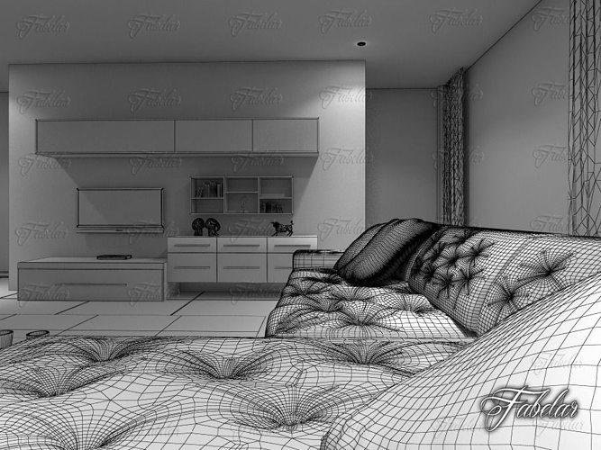 Living Room 12 Day Night 3d Model Max 3ds Fbx C4d Dae 4