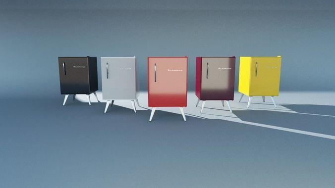 3D model Mini bar Brastemp retro style | CGTrader