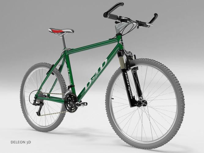 green mountain bike 3d model max obj mtl fbx c4d stl lxo lxl 1