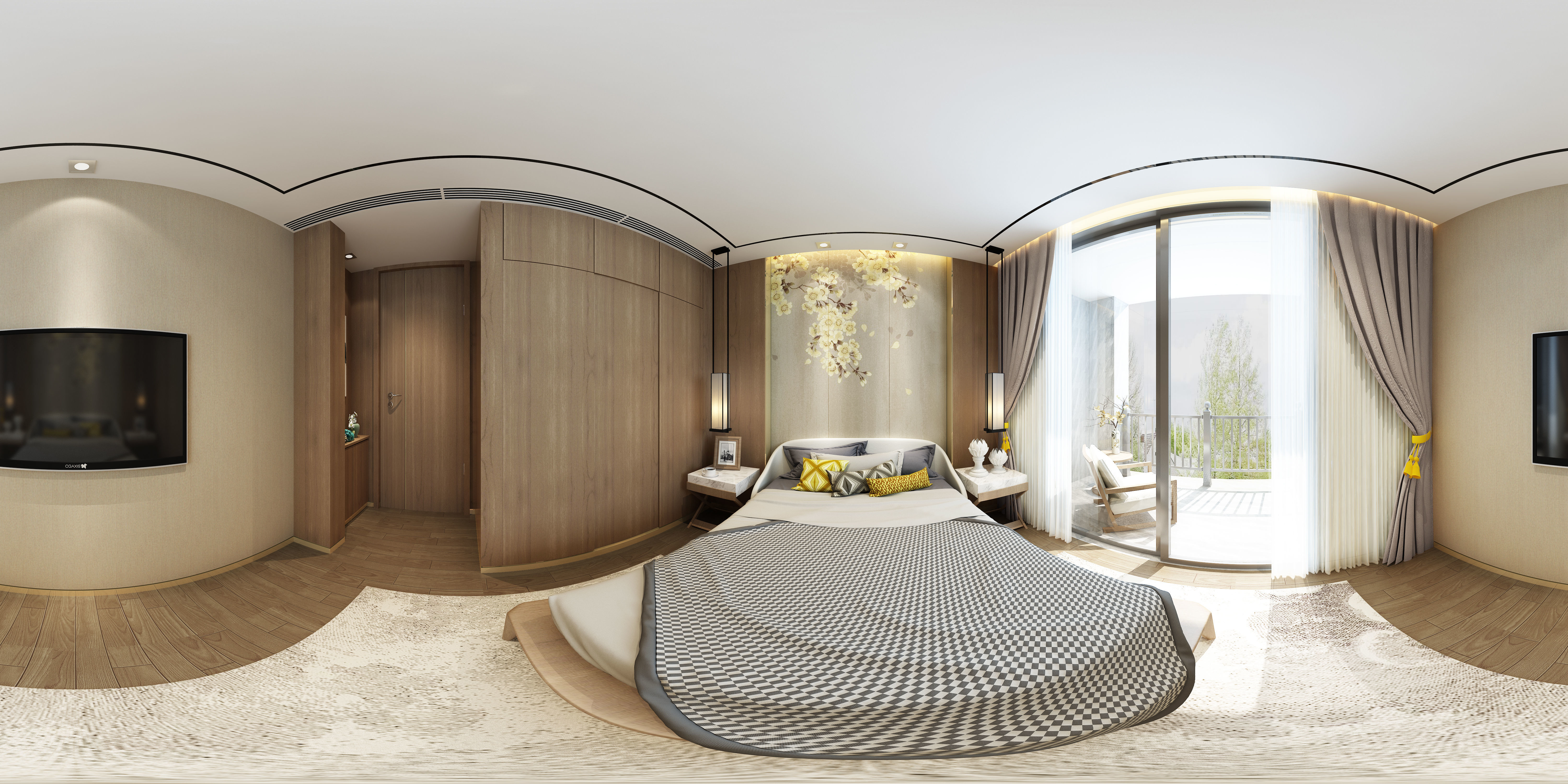 3D model New Chinese style Bedroom