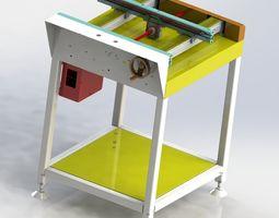 Width adjustable chain assembly line 3D model