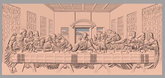christianity jesus christ virgin mary the last supper j0 3d model stl 1