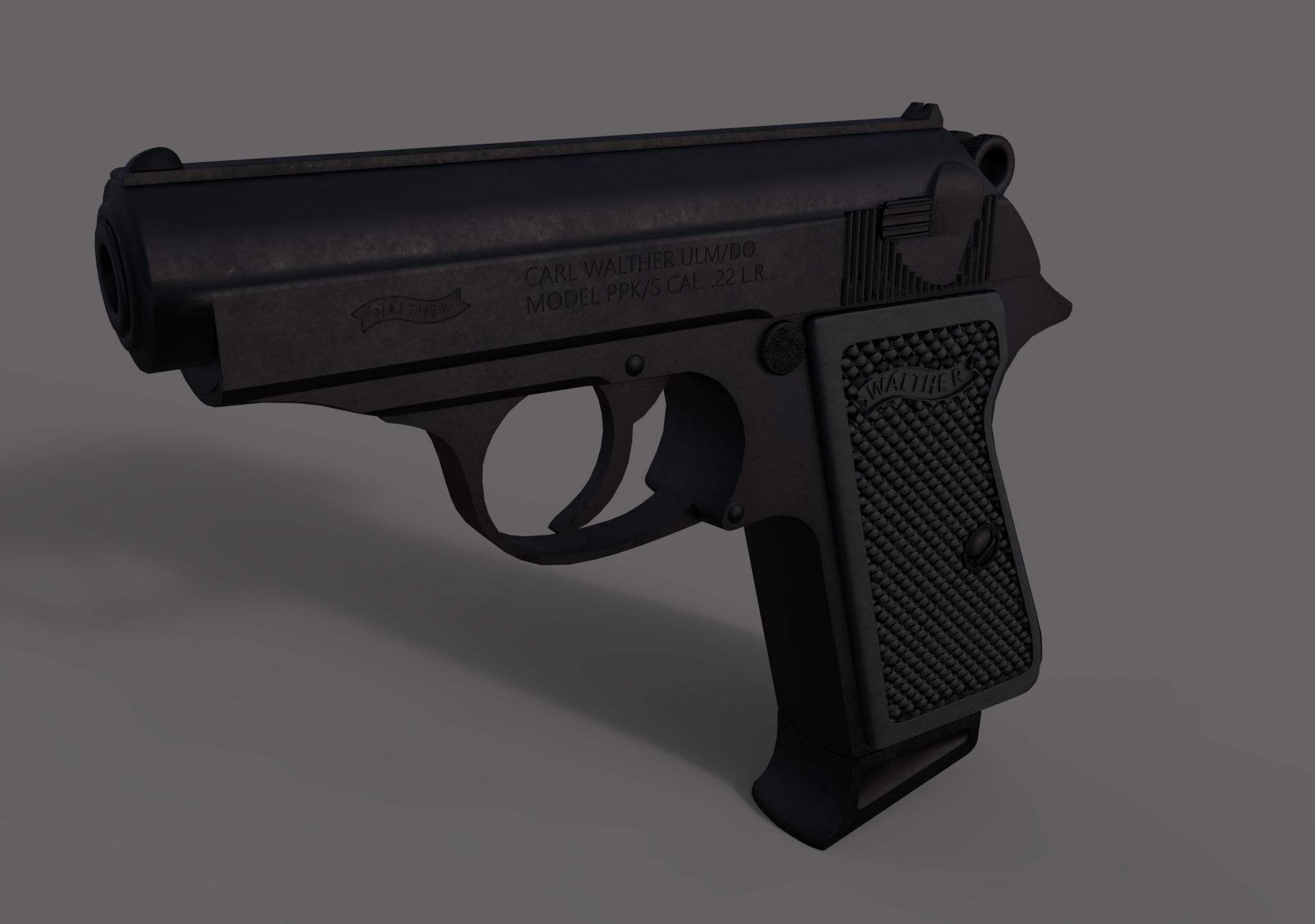 Walther PPK Handgun 3D model | CGTrader