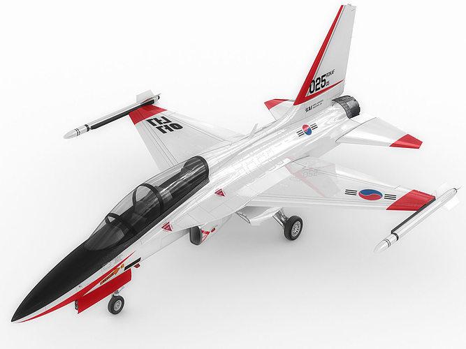 kai t-50 golden eagle 3d model rigged max obj mtl 3ds fbx c4d lwo lw lws 1
