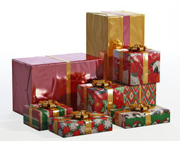 Gifts 3D asset realtime