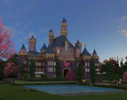 castle 3D model dream