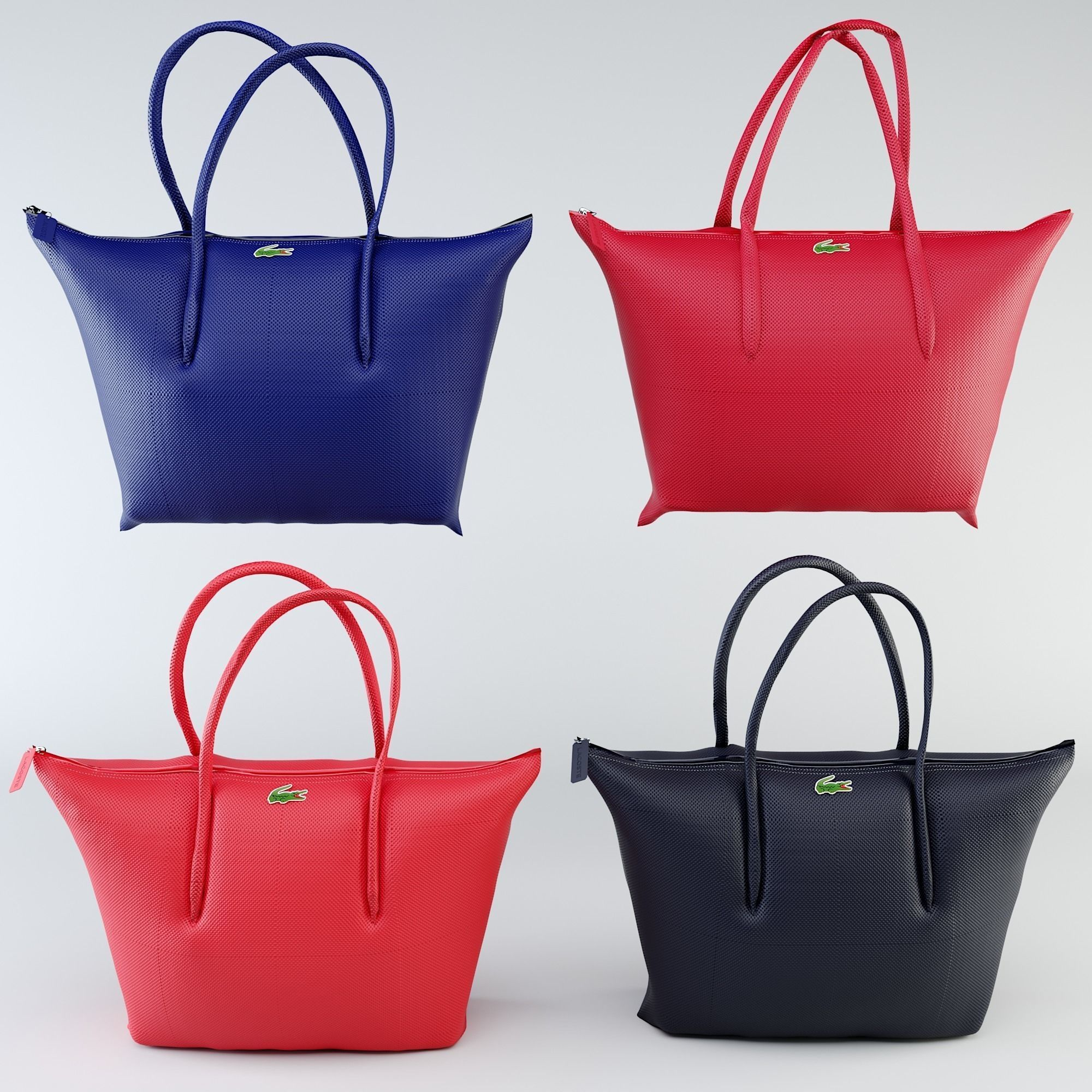 Lacoste Bags 3d Model Max Obj Mtl 1
