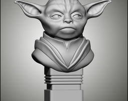 Master Yoda 3D printable model bust