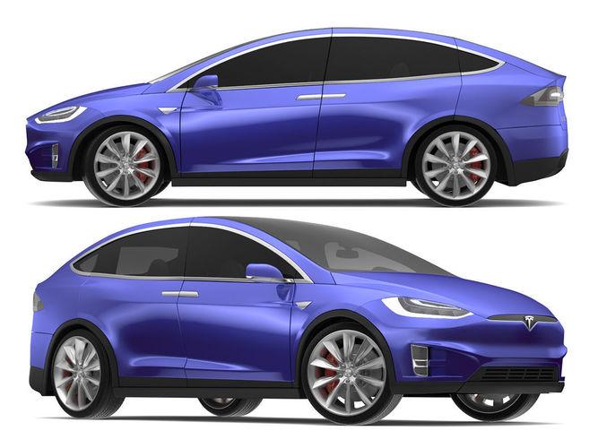 2017 Tesla Model X Deep Blue Metallic