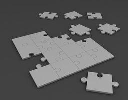 Jigsaw Puzzle corners 3D